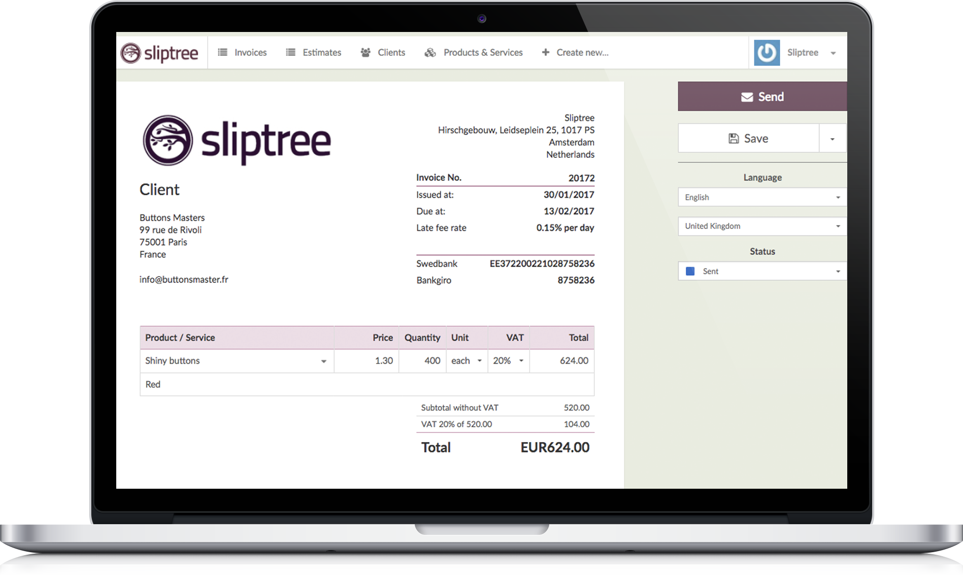 invoice software macbook pro